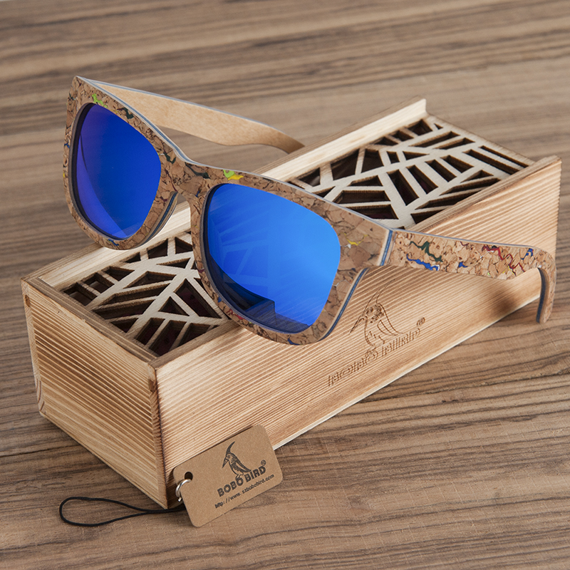 BOBO BIRD Brand Unique Wood font b Sunglasses b font Women Men Luxury Polarized Color Sun