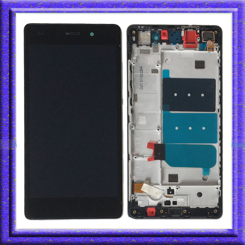 ФОТО Black For Huawei P8 Lite ALE-L04 L21 LCD Display Touch Digitizer Glass Assembly + Frame