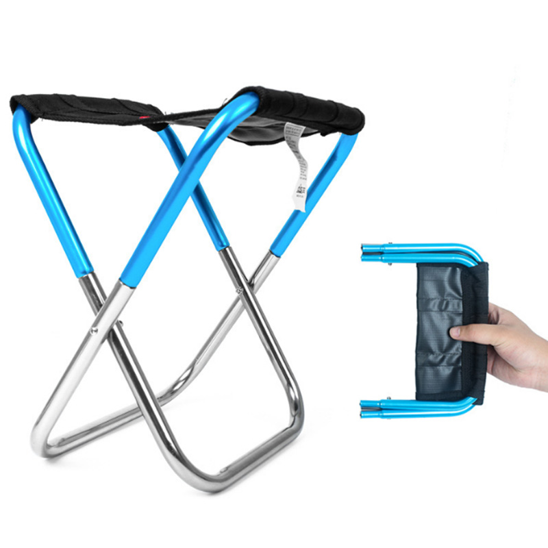 Folding Fishing Picnic Chair Lightweight Camping Foldable Aluminium Cloth Outdoor Portable Easy To Carry Fishing Tools