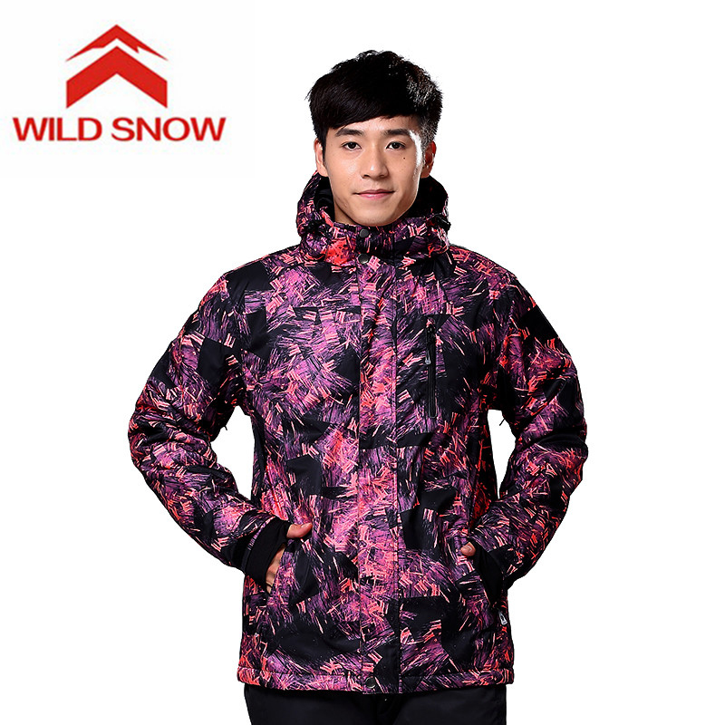 Wild Snow Brand New Ski Jackets men windproof warm coat male waterproof snowboard jacket teenagers Outdoor sport clothing winter