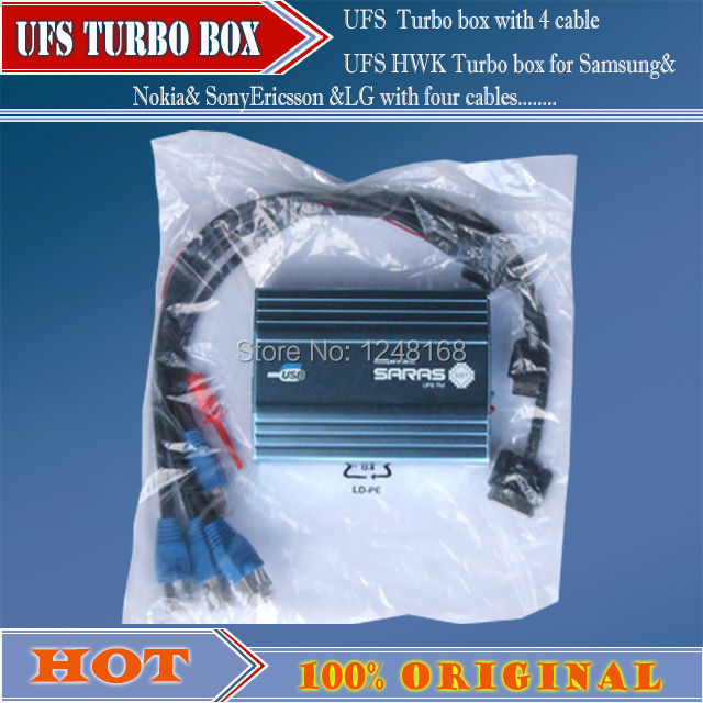 100 ORIGINAL2016 New UFS Turbo box for Samsung Nokia SonyEricsson LG with 4 cables
