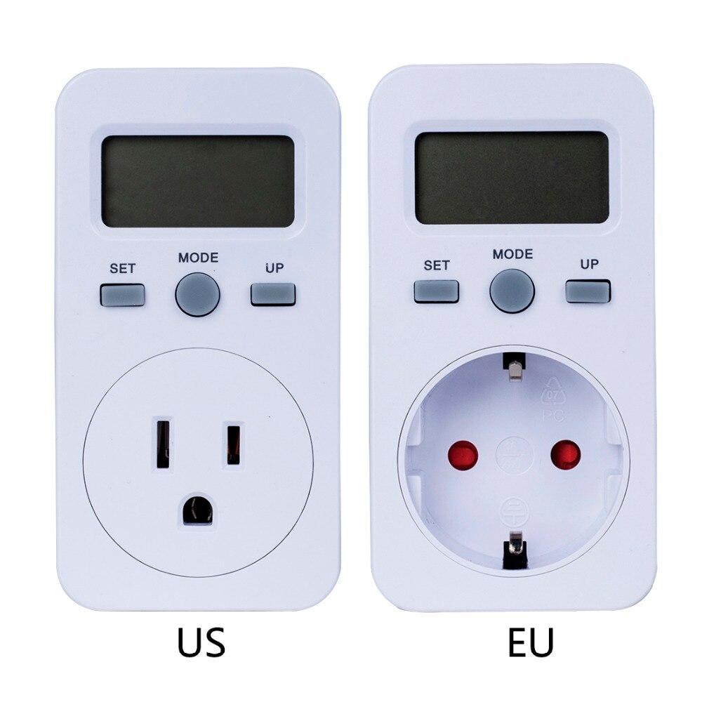 EU US Plug Plug-in Digital Wattmeter LCD Display Power Monitor Meters Electric Test Energy Meter