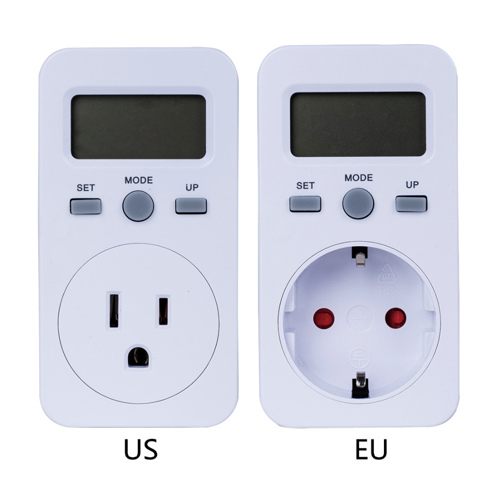 EU US Plug Plug-in Digital Wattmeter LCD Display Power Monitor Meters Electric Test Energy Meter
