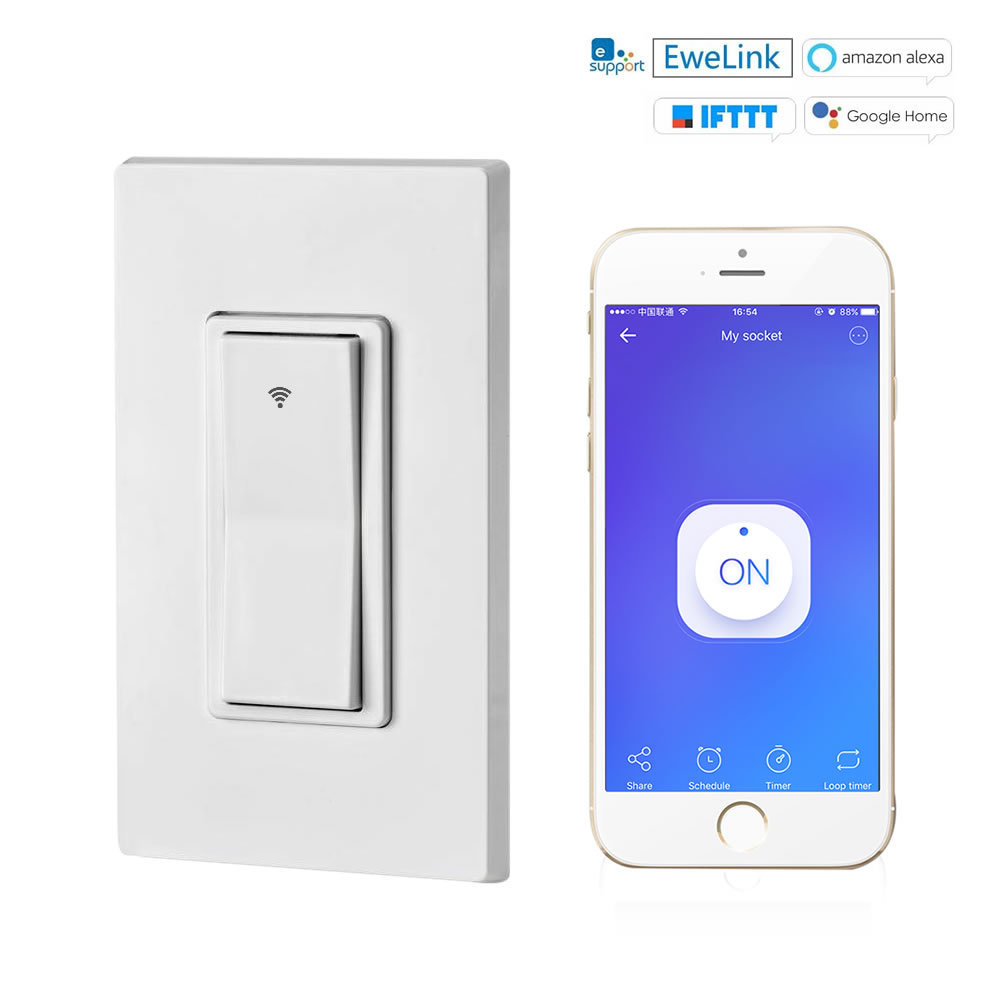Wifi Intelligent Wall Switch With Remote Control Voice Timing Mobile Phone   Panel