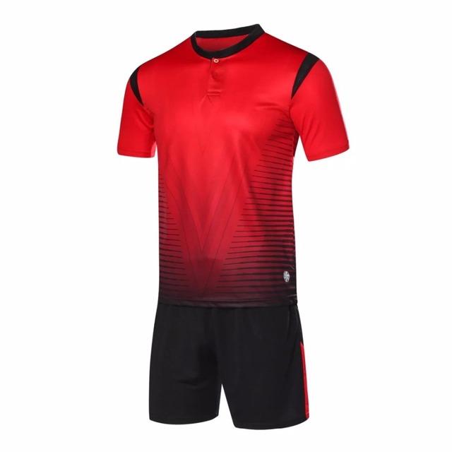 ZMSM Football Sets Quick Dry Mandarin Collar Mens Soccer Jerseys custom survetement football 2017 Training Sports suit LB1604