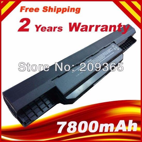 7800 mAh batterie D'ordinateur Portable Pour Asus X53B X44E X53E X53S X53T X53U X53U X54F X54H X54K X84C X84S X84SLX84HR X44HO