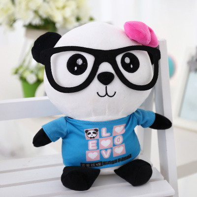 lovely glasses panda large 90cm plush toy panda doll soft hugging pillow, proposal birthday gift x028 40cm super cute plush toy panda doll pets panda panda pillow feather cotton as a gift to the children and friends