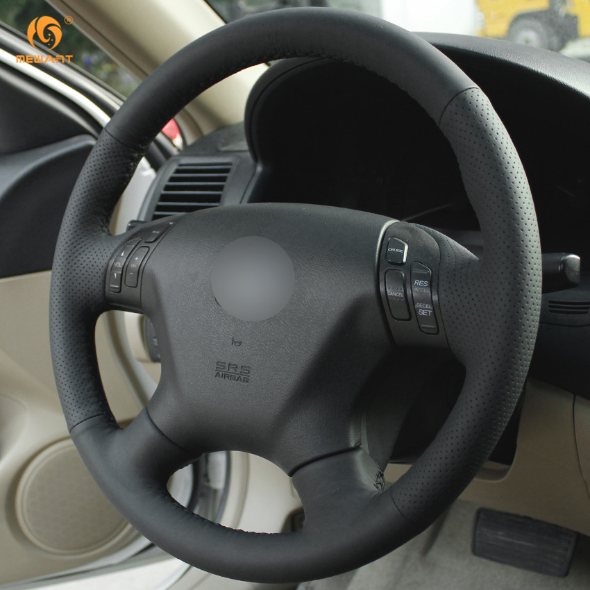 Mewant For 2004 2005 2006 2007 Honda Accord 7 Black Artificial Leather Car Steering Wheel Cover Interior Accessories Parts In Covers From