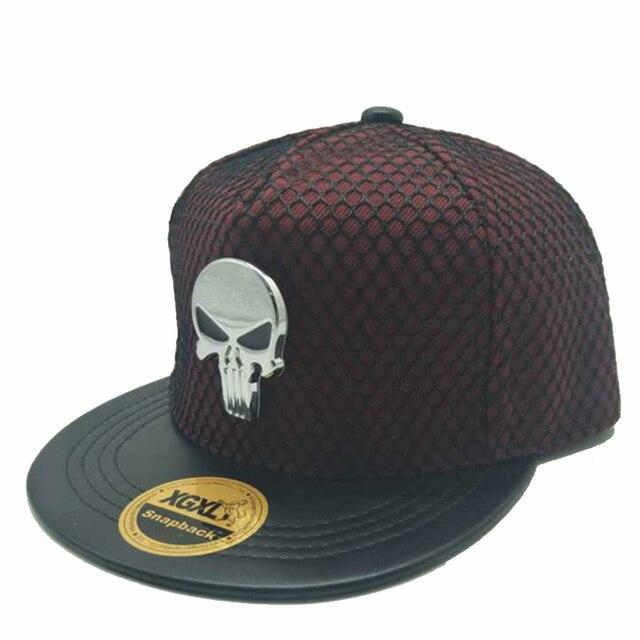 Baru Unisex Hip Hop Tengkorak Logam Polos Snapback Topi Pria Kasual Outdoor  Sun Hat Topi Bisbol 7b841e4338