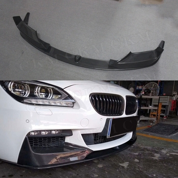 Carbon Fiber Front Bumper Lip Spoiler with Splitters for BMW 6 Series F06 F12 F13 M tech M sport 2012 up