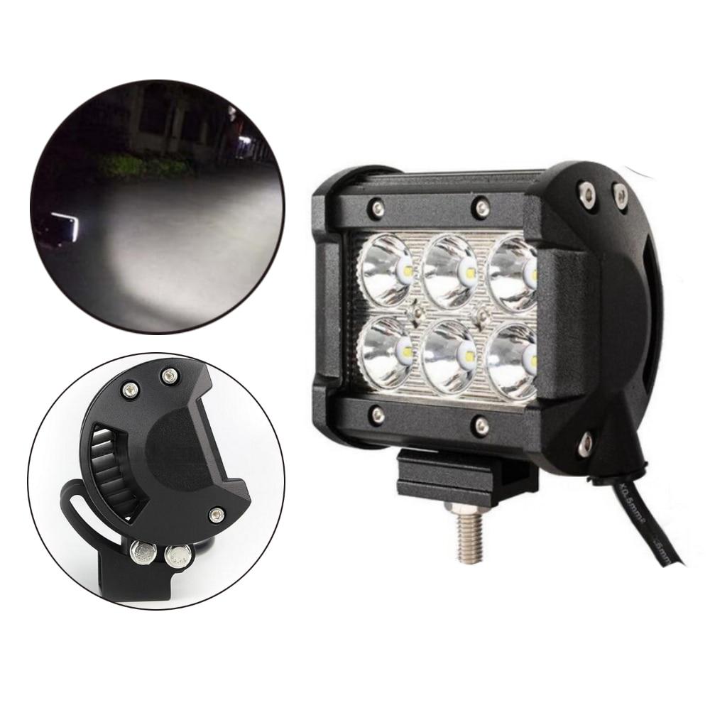 Bar Lamp Tractor Boat Off-Road 4WD 4x4 12v 24v Truck SUV ATV Flood Super Bright 18W LED Work Light  2pcs 4