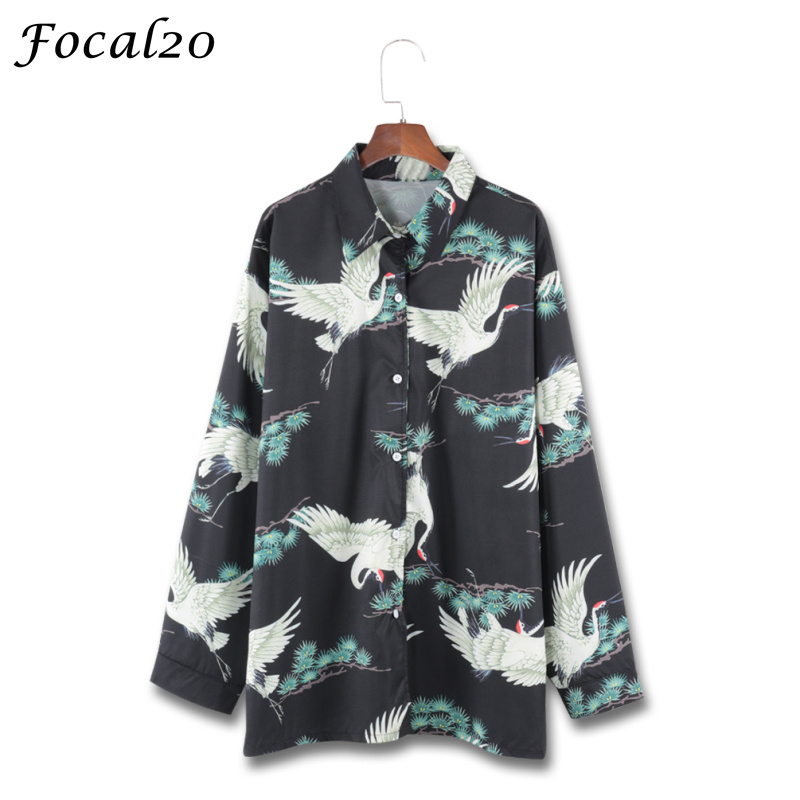 Blouses & Shirts Focal20 Streetwear Hit Color Plaid Women Blouse Shirt Spring Long Sleeve Stiching Color Hip Hop Oversize Female Blouse Top