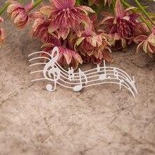 """Музыкальные ноты Вырубные штампы трафарет для скрапбукинга """"сделай сам"""" тиснильный альбом бумажное ремесло"""