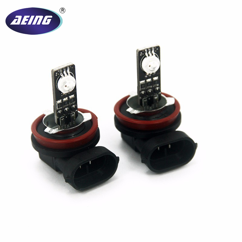 AEING Car H1H3H7H8H9H10H11880881 H279005 HB39006 HB4 RGB 7-Colors Strobe Flash LED Fog Lamp Bulb Daytime Running Light