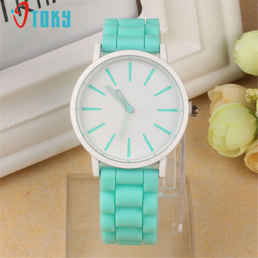 1PC Silicone Rubber Band Colorful Women Watches Quartz Analog Wrist Watch Reloj Mujer Creative Apr13 element charm watch silicone band wrist watches quartz watch multicolor women girls dames horloge