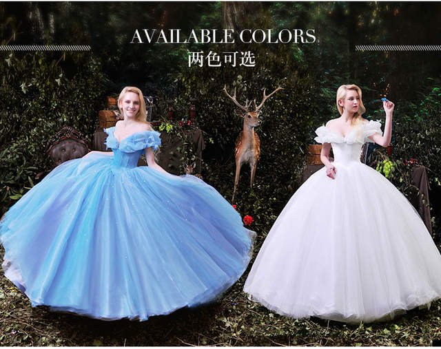2f29ab04d27 placeholder 2018 vestido de noiva Movie Cinderella Cinderella butterfly New  Cinderella Costume prom ball bridal gown bridesmaid
