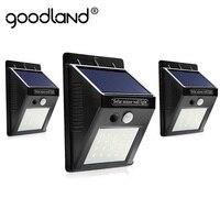 Goodland LED พลังงานแสงอาทิตย์กลางแจ้งโคมไฟพลังงานแสงอาทิตย์พร้อม Motion Sensor พลังงานแสงอาทิตย์กันน้ำส...