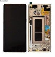 Baru Super AMOLED LCD untuk Samsung Galaksi Note 8 N9500 N9500F LCD Tampilan Sentuh Layar Digitizer Assembly