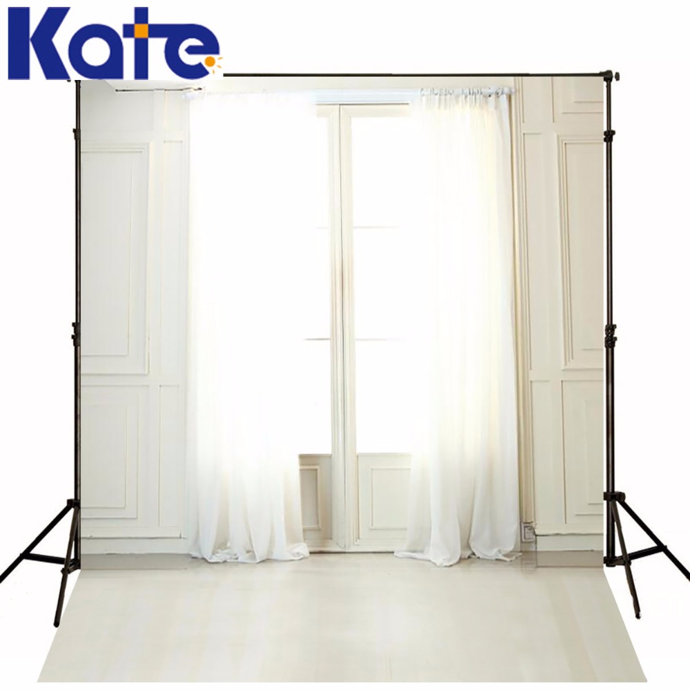 цена KATE 5*7ft Wedding Photography Backdrops Interior Window Curtains fund de estudio fotografia Backgrounds for photo studio Lk4304