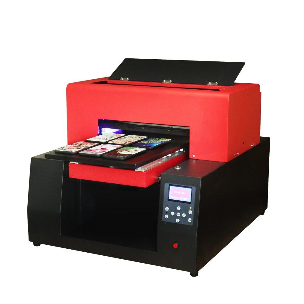 Automático A3 garrafa caso de Telefone Impressora UV tamanho a3 impressora uv máquina de Impressão para o Telefone case/couro/Vidro metal/PVC 6 cor