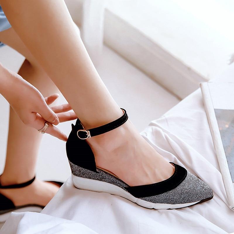3ba29a6891 YMECHIC Fashion Kid Suede Platform Sandals Summer Wedge Heels Women Shoes  Black Wine Red Peep Toe ...