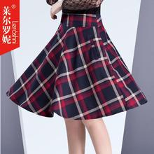 2016 spring the black pearl women sexy skirts ladies tartan red skater skirts above the knee saia de renda drop