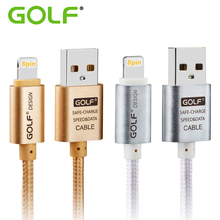 GOLF 1M 3M Ultra Long Braided Line 8Pin USB Charger For iPhone 8 5S 5 6S 6 7 Plus iPad 4 Air 2 Mini 2 Data Sync Cable Wire Cord