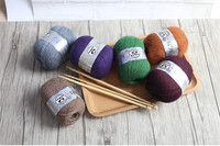 Miễn phí Vận Chuyển 50 gam/Bóng Chồn Cashmere Sợi Cho Tay-Dệt Kim Crochet Đề Mỏng Tốt Mặc Trong Mùa Đông B