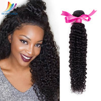 Sevengirls Malaysian 10 A 1Bundle Kinky Curly Natural Color Virgin Human Hair Extension 10 30 Inch 100% Human Hair Weaving