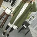 Women Sweater Long Cardigan 2016 Autumn Winter Wool Long Sleeve Knitted Cardigan female Sweaters Long Coat SH063