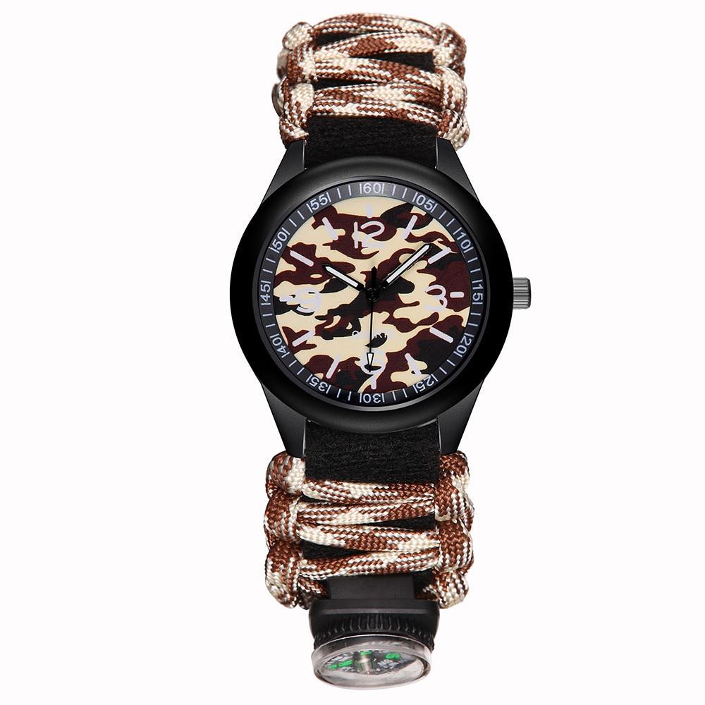 Man Watches 2018 Brand Luxury Nylon Strap Band With Compass Men Military Colck Quartz Wrist Watch Gift Men's watch erkek saat
