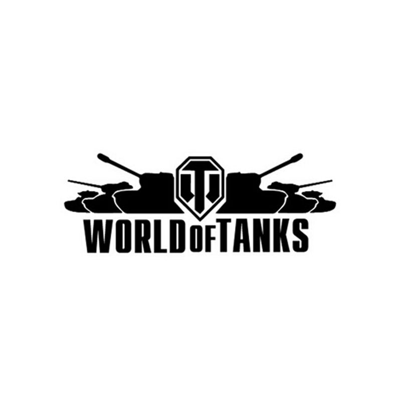 """"""" WORLD OF TANKS """"Vinyl Sticker Funny Decal For Car Window Motorcycle Decoration"""