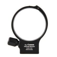Tripé de metal com anel em formato de d, moumt para canon ef 100mm f/2.8l macro é adaptador de lente de usm anel de anel