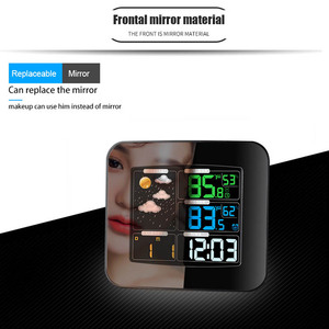 Image 5 - Digital Color Wireless Weather Station with Clear LCD Humidity Dual Alarms Thermometer ALI88