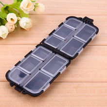 10 Compartments Small Size Fishing Tackle Box Fishing Lure Hook Rig Bait Durable Plastic Storage Box Case Fishing Accessories