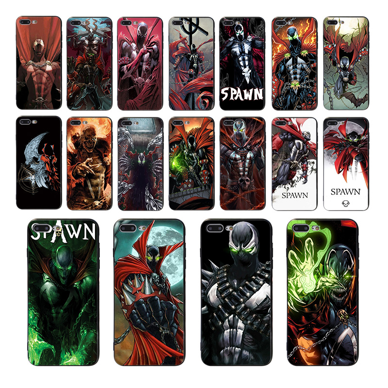 Spawn Soft silicone phone case For iPhone 6s 6 7 8 plus 5 5S SE XR XS max X TPU Coque mobile cover comic pattern fitted shell