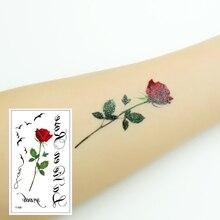 Women Sexy Tattoo Sticker Flower Fingers Toes Body Art Waterproof Temporary Fake Cheap Stuff T-109