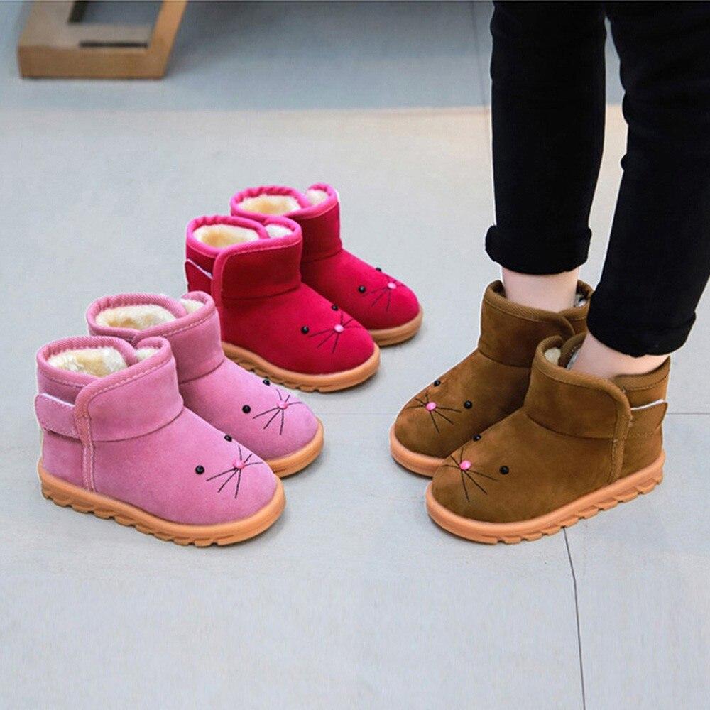 Baby Shoes Winter Sneaker Prewalker Infant Girls Boys Kids Warm Snow Cartoon Casual 45-