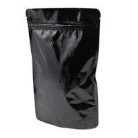 15x23 см Ziplock Алюминий Фольга мешок термосварочные черный чистый mylar Фольга Вышивка Крестом Пакет сумка молнии чехол для Чай цветок Еда хранен...