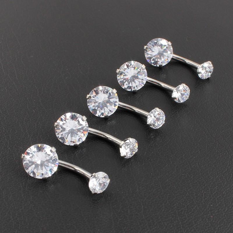 HTB1z3oqOFXXXXbqXXXXq6xXFXXXk Pretty Zircon Jewel Prong Style Belly Button Ring - 2 Colors
