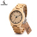 BOBOBIRD Natural All Bamboo Wood Watches Top Brand Luxury Men Watch Wth Japanese relogio masculino montre homme marque de luxe