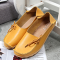 New Women Leather Shoes Moccasins Slipony Mother Loafers Soft Leisure Flats Alpargata Female Driving Casual Footwear 16 Colors