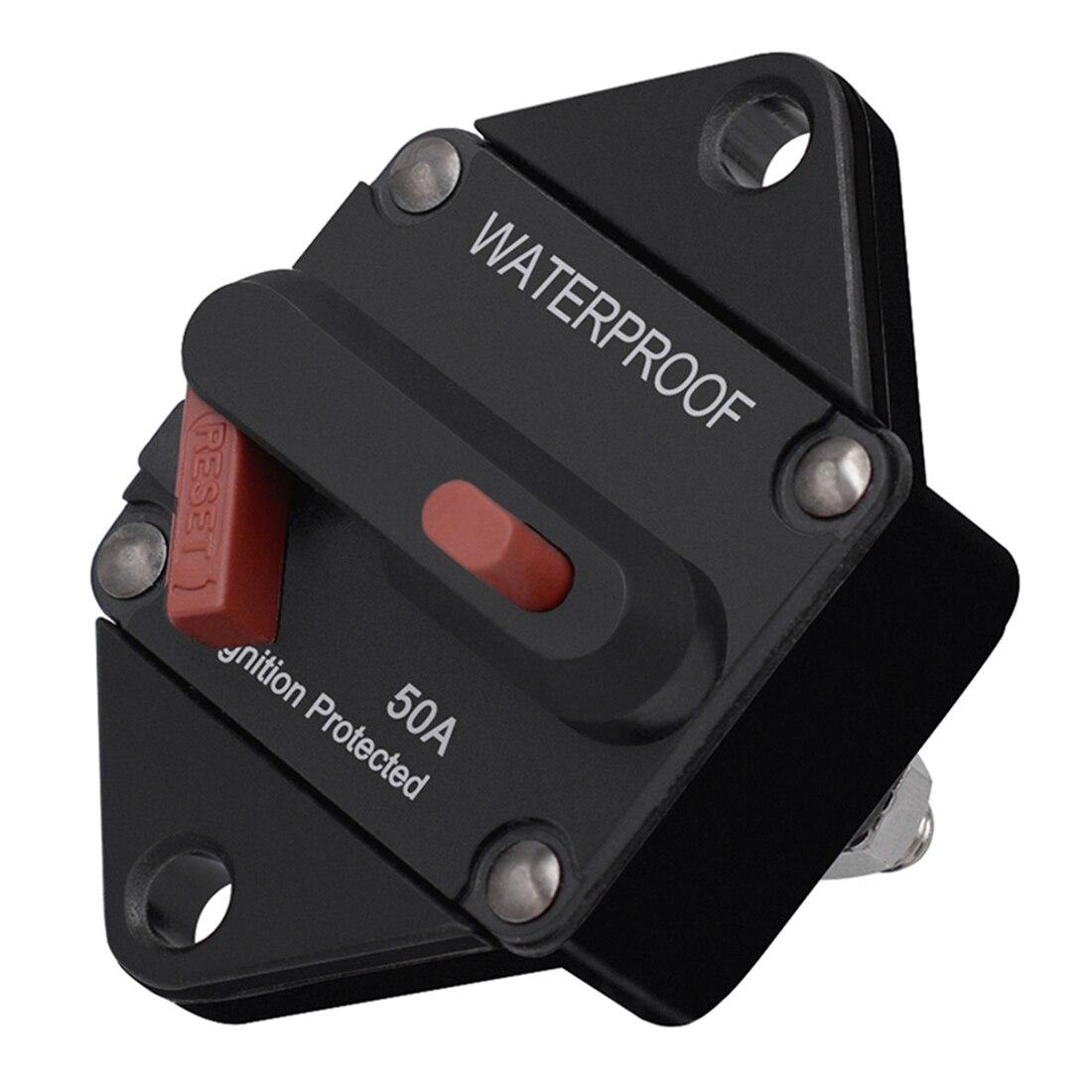 Manual Reset E96 Circuit Breaker Switch Waterproof Ip67 Circuit Breaker Reset Fuse Invert Dc32v