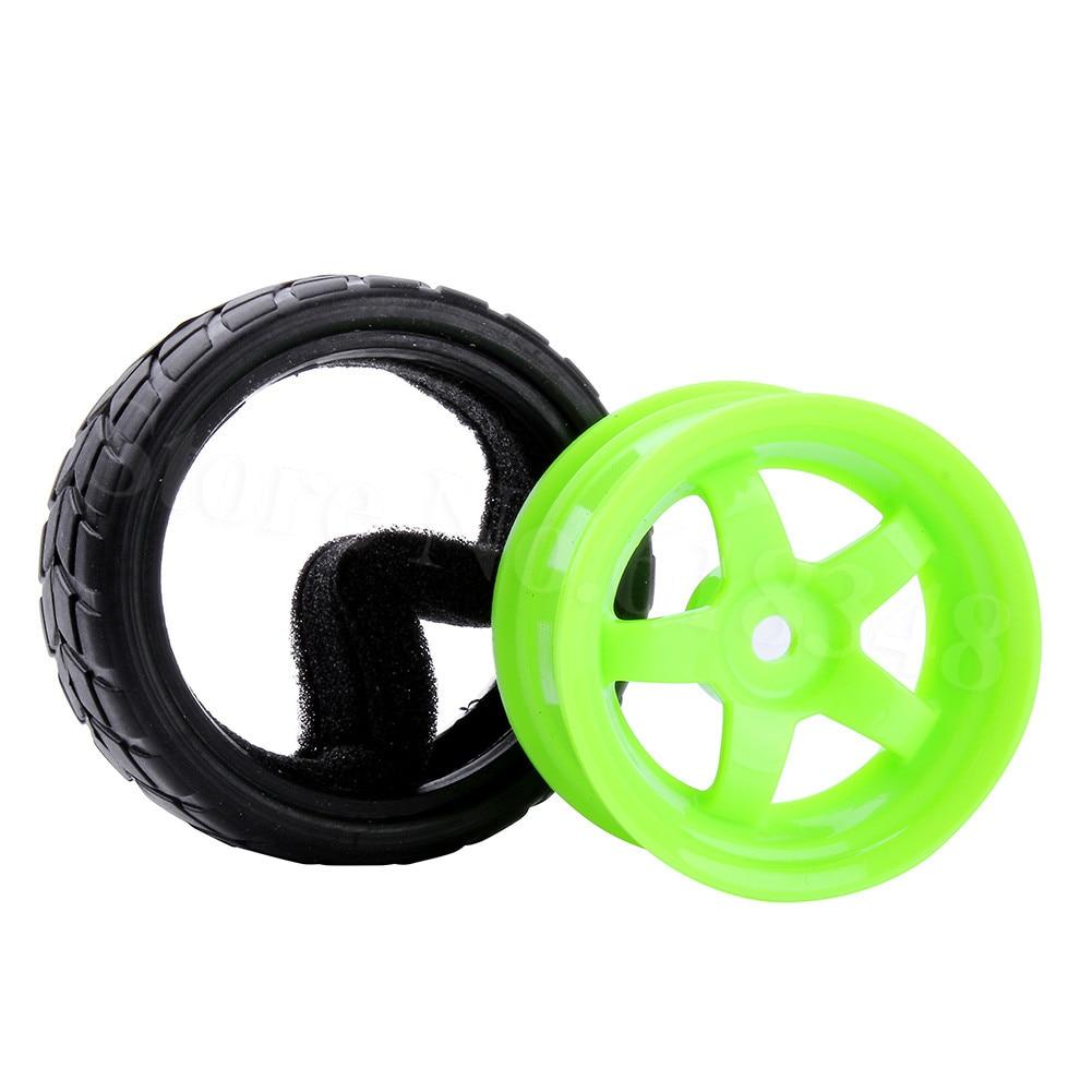 4 Unids / lote RC Neumáticos Ruedas 26mm Hexagonal 12mm Con Nylon - Juguetes con control remoto - foto 3