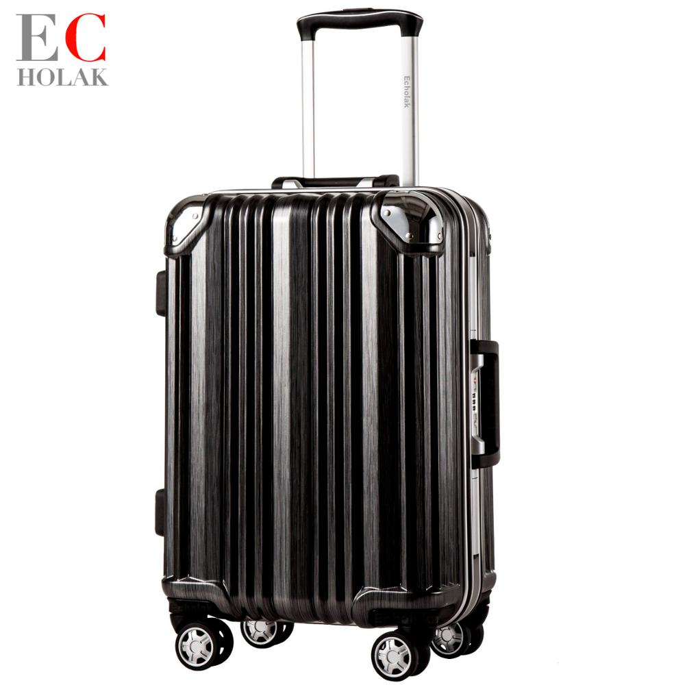 Luggage Frame Travel suitcase Rolling Spinner Luggage 20 24inch carry on box travel bags Woman suitcase