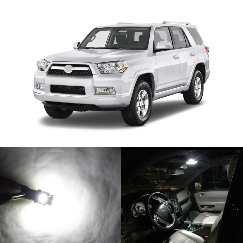 12PCs Canbus White Car Led Light Bulbs Interior Package Kit For <font><b>Toyota</b></font> <font><b>4Runner</b></font> 2003-2014 Map Dome Door Trunk License Plate Lamp image