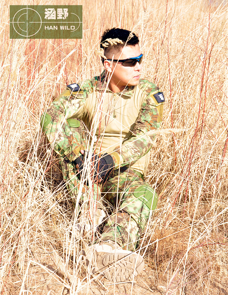 Tactical Military Army Uniform Training Suit Phoenix-sleeved Clothes Jungle Python With Pads S-XXL
