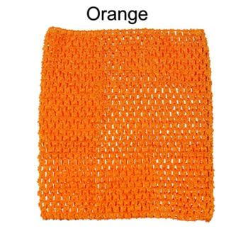 Вязанная крючком юбка-пачка для маленьких девочек, 9 дюймов, топы-трубы, обхват груди, широкая вязаная крючком, топы, юбка-пачка «сделай сам», платье, поставщик - Цвет: Orange Tutu Top
