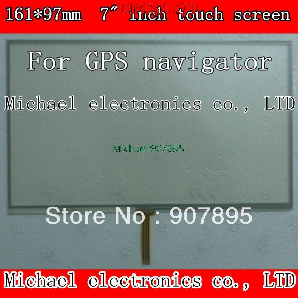 10pcS .5 7 7INCH Navigation 4-wire welding resistive touch screen 161X97mm Suitable for all 7inch GPS navigation device