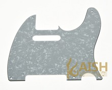 Vintage 5 Hole TL Style Guitar Pickguard White Pearl Fits TL 3 Ply